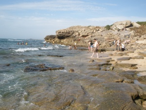 It was a clean and gorgeous isolated beach in Temara