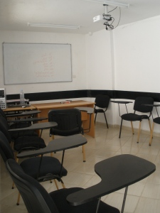 This is the classroom where I take Arabic. A lot of desks for just one student...