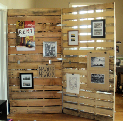 Wood Pallet Room Divider | My Friend Staci