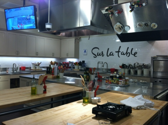 Cooking at Sur La Table