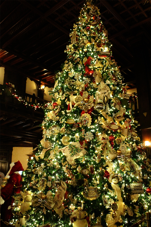The Christmas tree at Hotel Del Coronado
