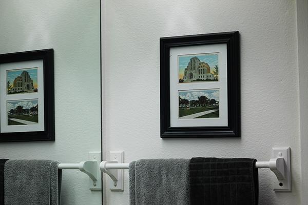 Postcards in frame