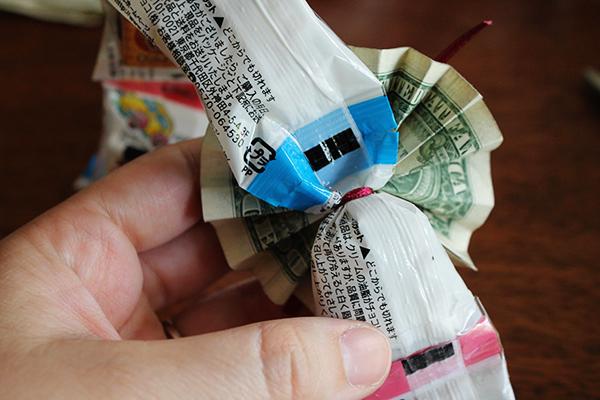 Money Fan from Back