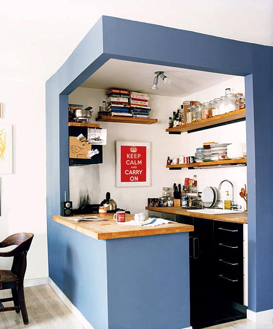 Blue Kitchen Space