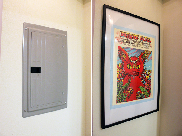 Art to cover electric panel