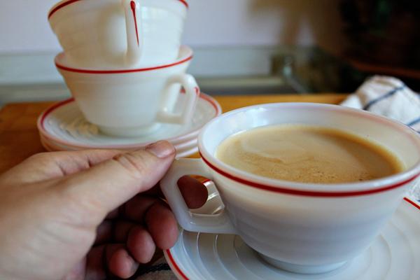 Milk Glass Teacup