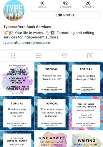Typecrafters Instagram