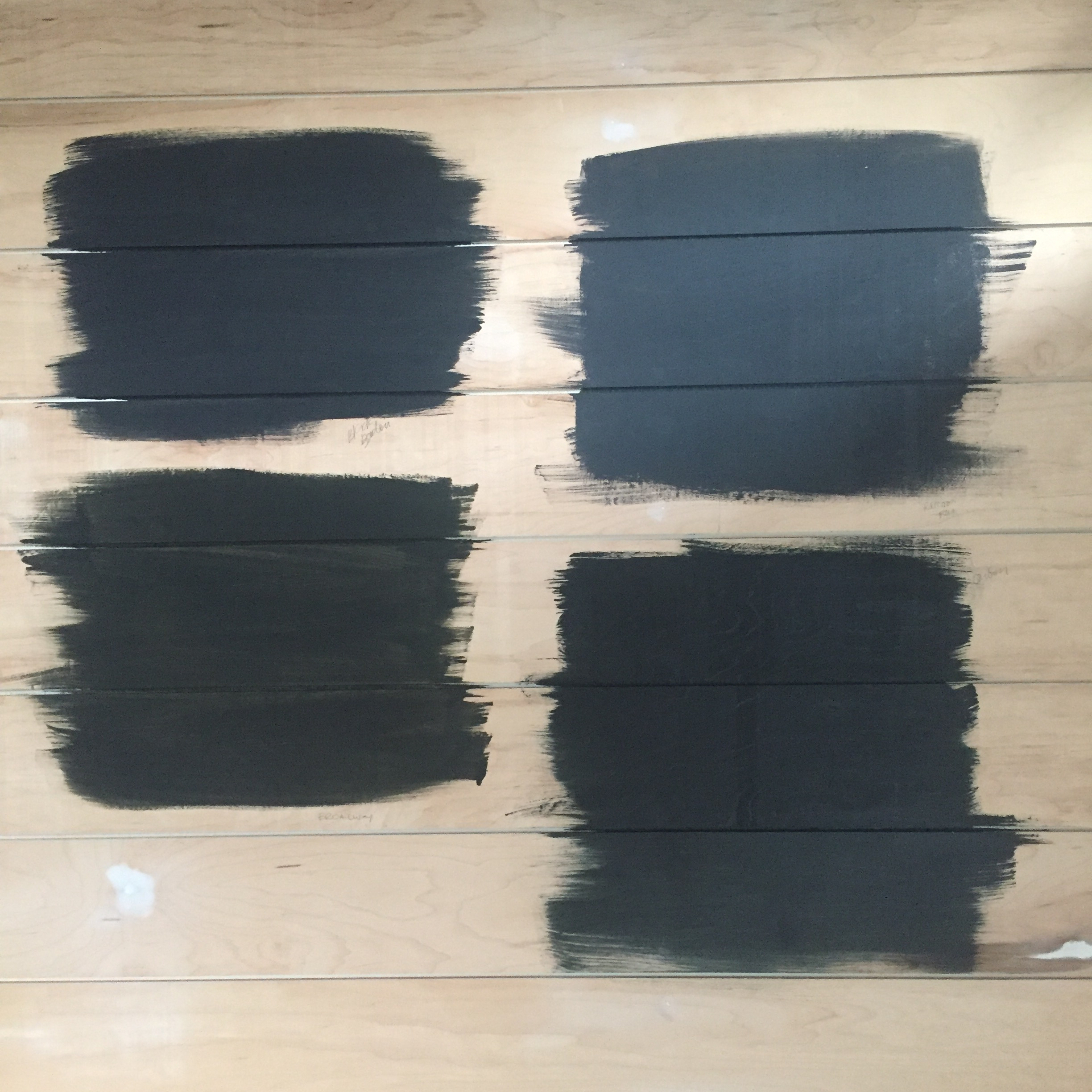 Which black paint?